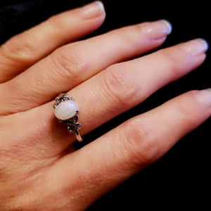Wicked Wonders VIP Bling Ring Soul Giver Silver and Opalesque Ring Affordable Bling_Bling Fashion Paparazzi