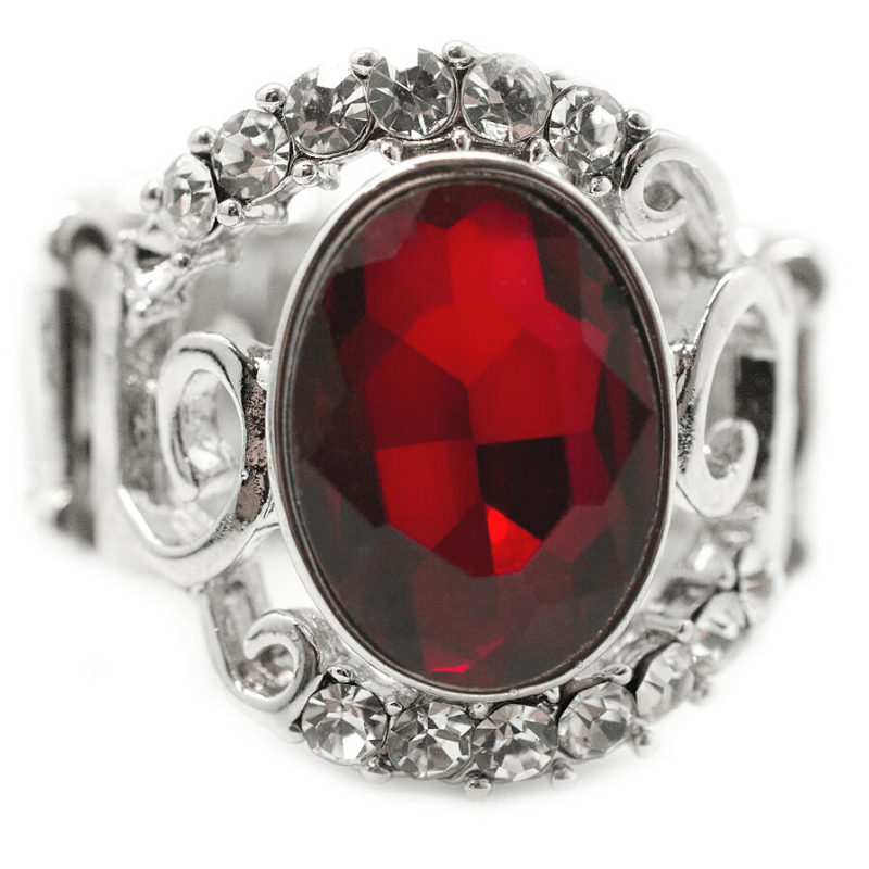 Wicked Wonders VIP Bling Ring Strike It Rich Red Gem Ring Affordable Bling_Bling Fashion Paparazzi