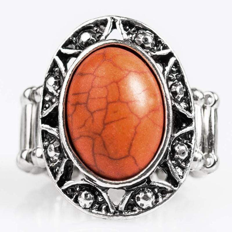 Wicked Wonders VIP Bling Ring Sun Valley Orange Stone Ring Affordable Bling_Bling Fashion Paparazzi