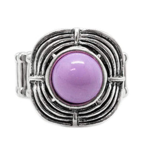 Wicked Wonders VIP Bling Ring Target Practice Purple Ring Affordable Bling_Bling Fashion Paparazzi