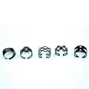 Wicked Wonders VIP Bling Ring Tatty Toes Black Adjustable Toe Rings Affordable Bling_Bling Fashion Paparazzi