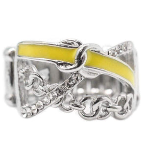 Wicked Wonders VIP Bling Ring The Color Guard Yellow Ring Affordable Bling_Bling Fashion Paparazzi