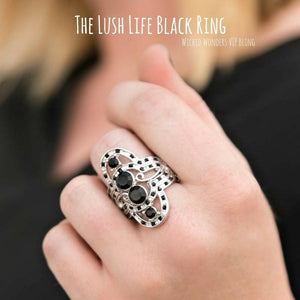 Wicked Wonders VIP Bling Ring The Lush Life Black Ring Affordable Bling_Bling Fashion Paparazzi