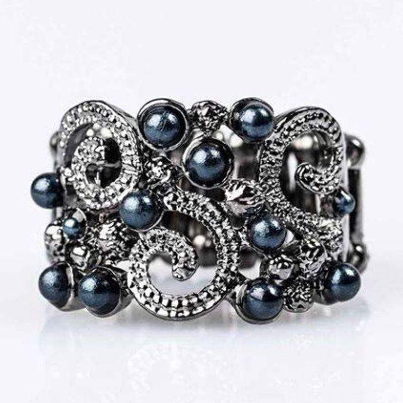 Wicked Wonders VIP Bling Ring The Night Sky Blue Pearl Ring Affordable Bling_Bling Fashion Paparazzi