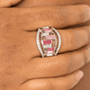 Wicked Wonders VIP Bling Ring Treasure Chest Charm Pink Ring Affordable Bling_Bling Fashion Paparazzi