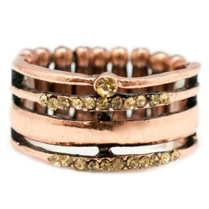Wicked Wonders VIP Bling Ring Up All Night Copper Rhinestone Ring Affordable Bling_Bling Fashion Paparazzi