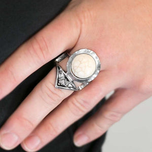 Wicked Wonders VIP Bling Ring What's Your Point? White Ring Affordable Bling_Bling Fashion Paparazzi