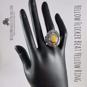 Wicked Wonders VIP Bling Ring Yellow Flicker Beat Yellow Ring Affordable Bling_Bling Fashion Paparazzi
