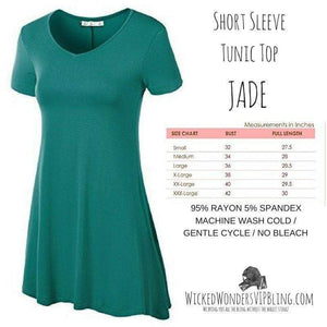 Wicked Wonders VIP Bling Shirt Short Sleeve Tunic Top JADE Affordable Bling_Bling Fashion Paparazzi