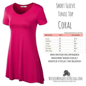 Wicked Wonders VIP Bling Shirt Short Sleeve Tunic Top PINK CORAL Affordable Bling_Bling Fashion Paparazzi