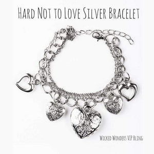 Wicked Wonders VIP Bling SOLD OUT Hard Not to Love Silver Bracelet Affordable Bling_Bling Fashion Paparazzi