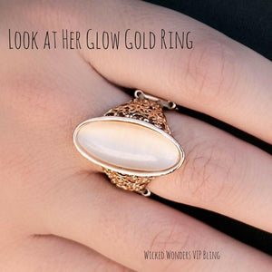 Wicked Wonders VIP Bling SOLD OUT Look at Her Glow Gold Ring Affordable Bling_Bling Fashion Paparazzi