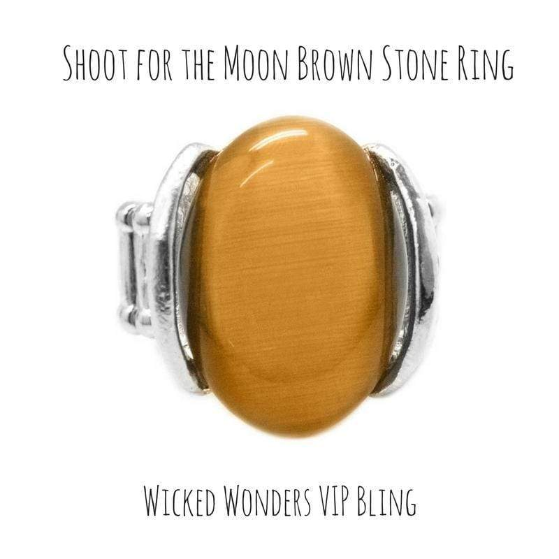 Wicked Wonders VIP Bling SOLD OUT Shoot for the Moon Brown RIng Affordable Bling_Bling Fashion Paparazzi