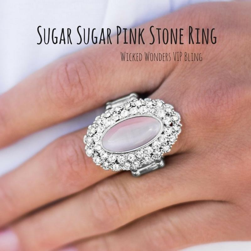 Wicked Wonders VIP Bling SOLD OUT Sugar Sugar Pink Stone Ring Affordable Bling_Bling Fashion Paparazzi