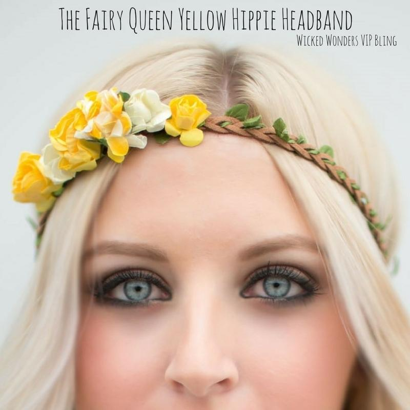 Wicked Wonders VIP Bling SOLD OUT The Fairy Queen Yellow Hippie Headband Affordable Bling_Bling Fashion Paparazzi