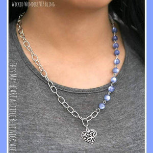 Wicked Wonders VIP Bling SOLD OUT This May HEART a Little Blue Necklace Affordable Bling_Bling Fashion Paparazzi