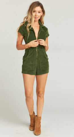 Green Romper - LAST ONE!