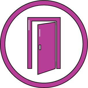 COVID-Safe icon - Only half our change rooms are in use at one time to ensure social distancing
