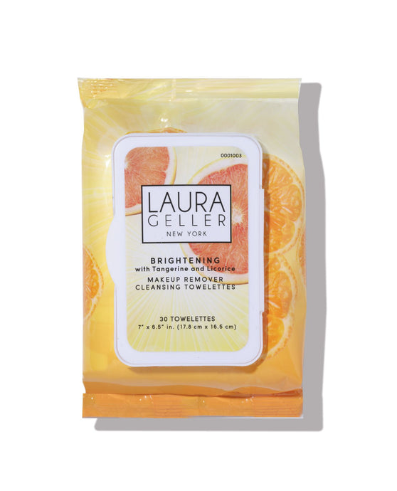Make-Up Remover Cleansing Towelettes Brightening - with Tangerine and Licorice