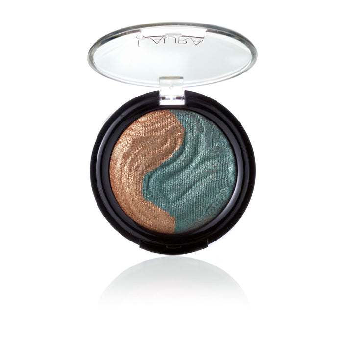 Baked Eclipse Eye Shadow Duo - Bronze / Emerald