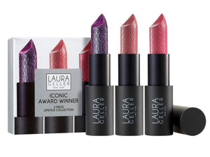 Iconic Award Winners 3 Piece Lipstick Collection ($63 Value)