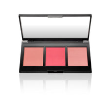 Load image into Gallery viewer, Multitasking Eye, Lip, Cheek Palette Cream to Powder Trio, Shades of Pinks