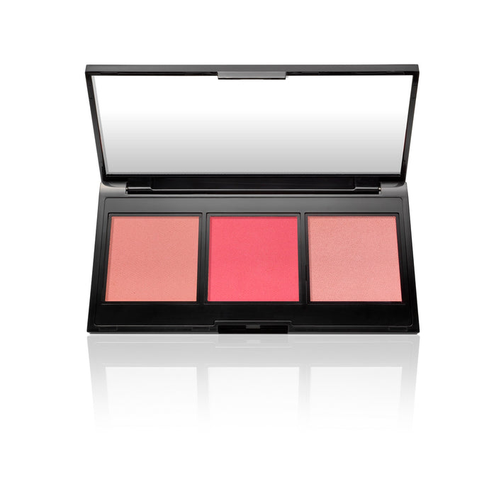Multitasking Eye, Lip, Cheek Palette Cream to Powder Trio, Shades of Pinks