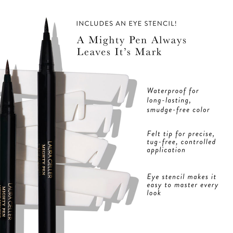 Mighty Pen Liquid Eyeliner With Stencil