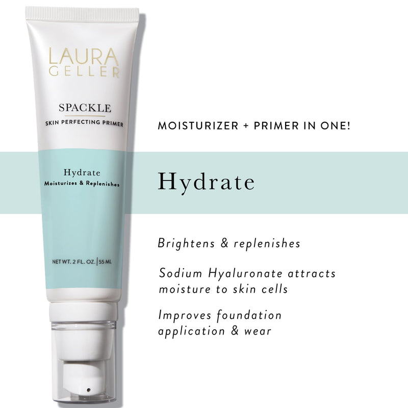 Spackle Skin Perfecting Primer, Hydrate Moisturizes + Replenishes Product Callout