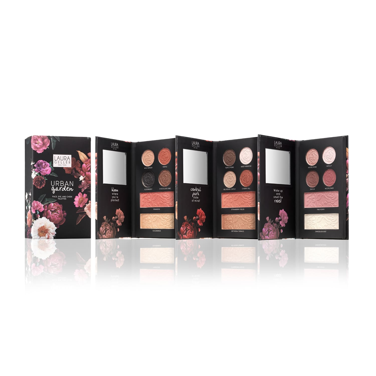 Urban Garden: 3 Face, Eye & Cheek Palettes