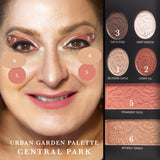 Urban Garden: 3 Face, Eye & Cheek Palettes Central Park Face Chart