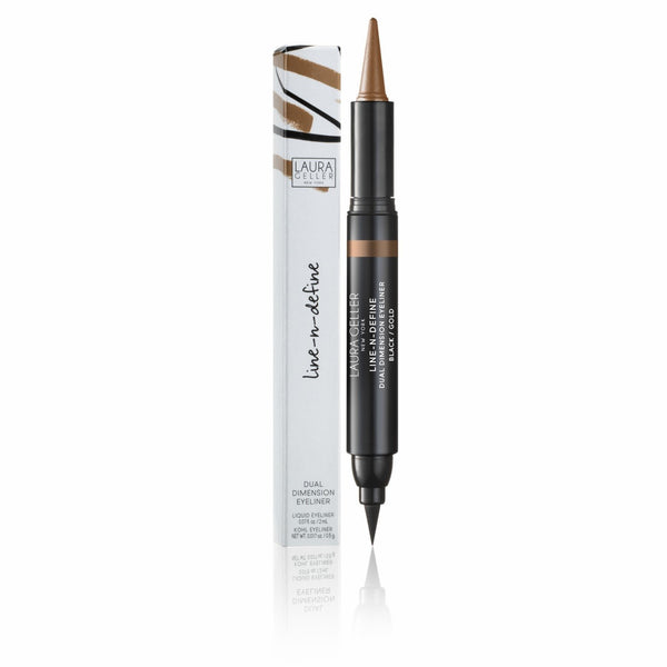 Line-n-Define Dual Dimension Eyeliner (Black/Gold)