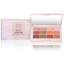 Load image into Gallery viewer, Nude Attitude Multi-Finish Eye Shadow Palette