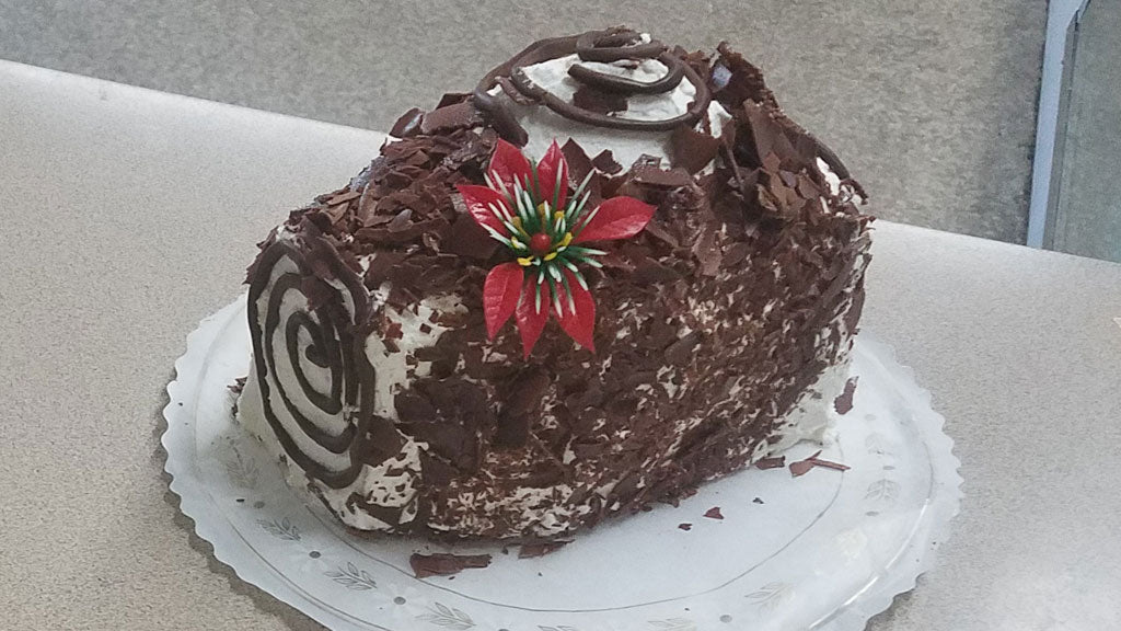Chocolate Mousse Yule Log