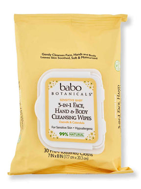 Buy online Babo Botanicals 3-in-1 Sensitive Baby Face, Hands & Body Wipes 30 Ct
