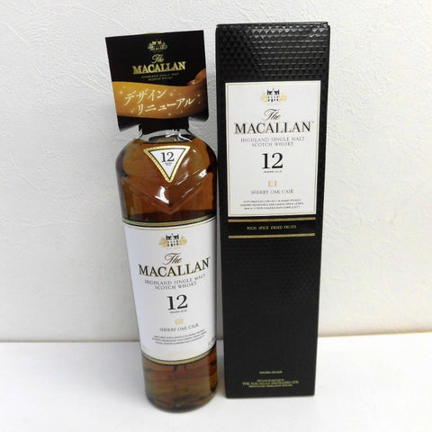 Unopened MACALLAN 12 years Sherry Oak Cask 700 ml with box