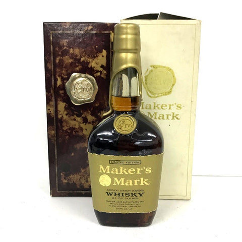 Unopened Maker's Mark with gold top 750 ml with box