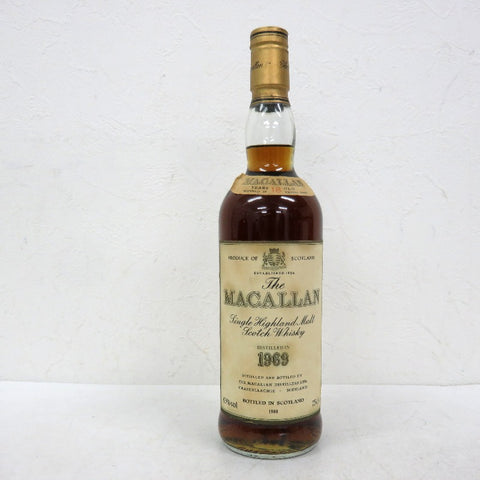 Unopened MACALLAN 18 year 1969 750ml box none