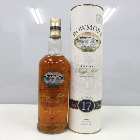 Unopened BOWMORE 17 year single malt ISLAY 750 ml with box