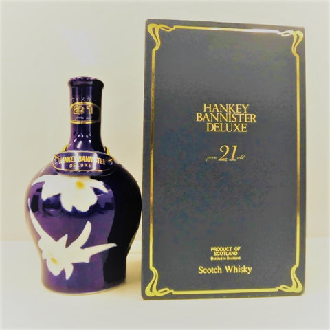 Unopened HANKEY BANNISTER Deluxe 21 years Pottery with 750 ml box
