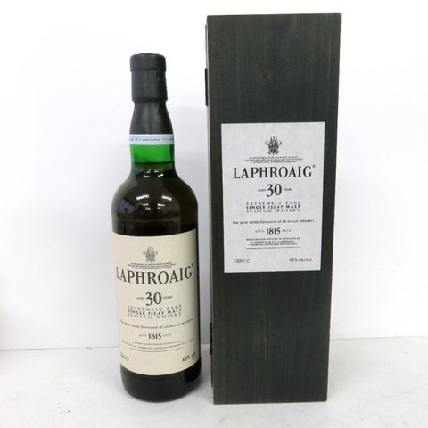 Unopened LAPHROAIG 30 years 700 ml with box
