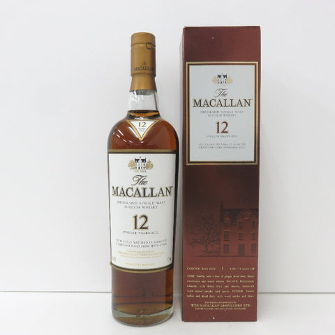 Unopened MACALLAN 12 years 700ml With box