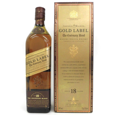 Unopened Johnny Walker Gold label 18 years 750ml With box