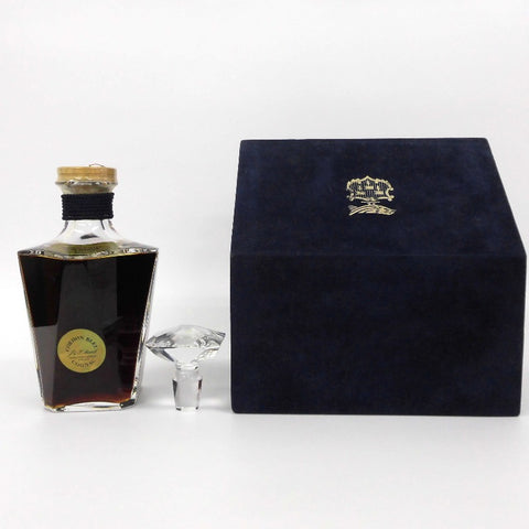 Unopened MARTELL Cordon blue Baccarat 700ml with replacement plug with box