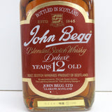 Unopened John Begg 12 years deluxe special class rating 750 ml with a box