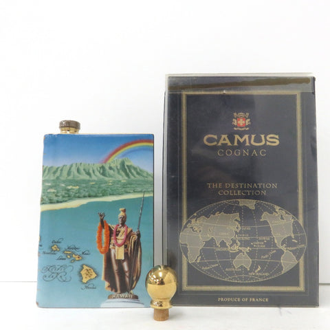 Unopened CAMUS Special Reserve Book type Kamehameha Daio pottery 350ml with plug with box