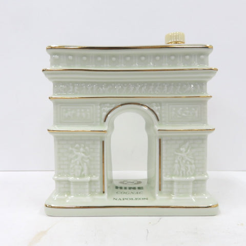 Unopened HINE Napoleon Arc de Triomphe type bottle White pottery 700ml Without box