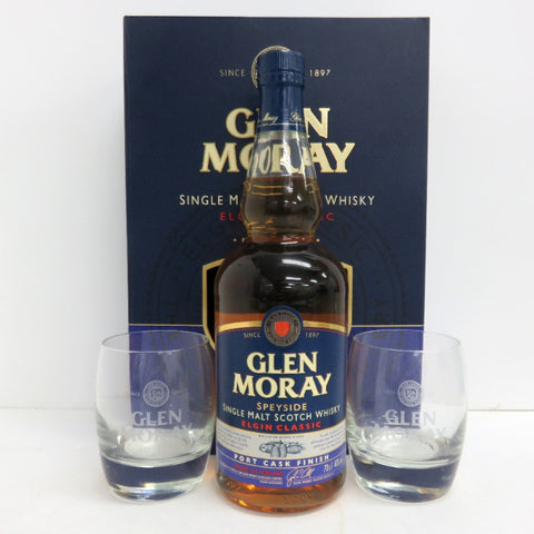 Unopened Glenn Marley Elgin Classic 700ml with glasses with box