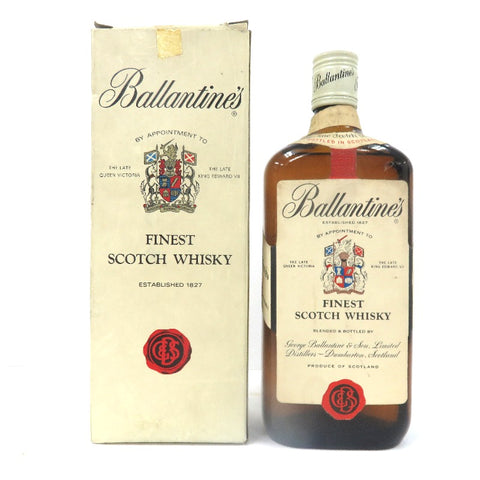 Unopened Ballantine's Finest red blue special grade rating 760ml with box