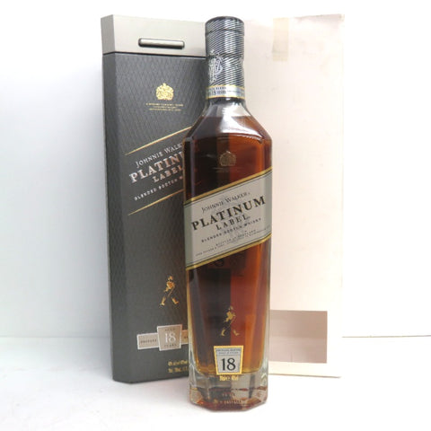 Unopened Johnny Walker Platinum label 18 years 700ml With box